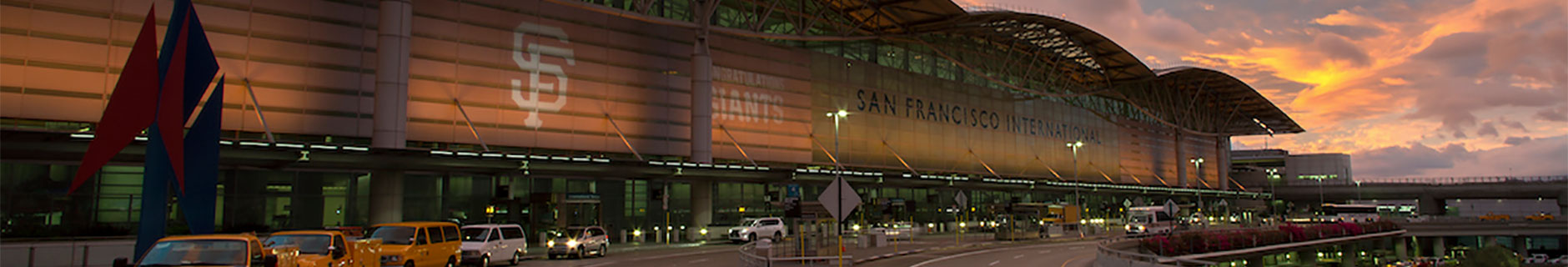 SFO Airport at sunset