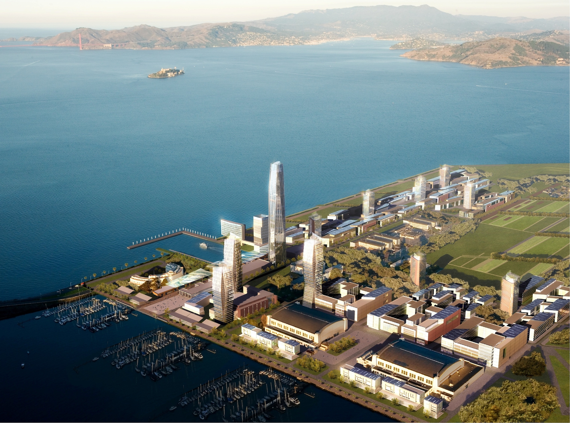 Planned Treasure Island Redevelopment