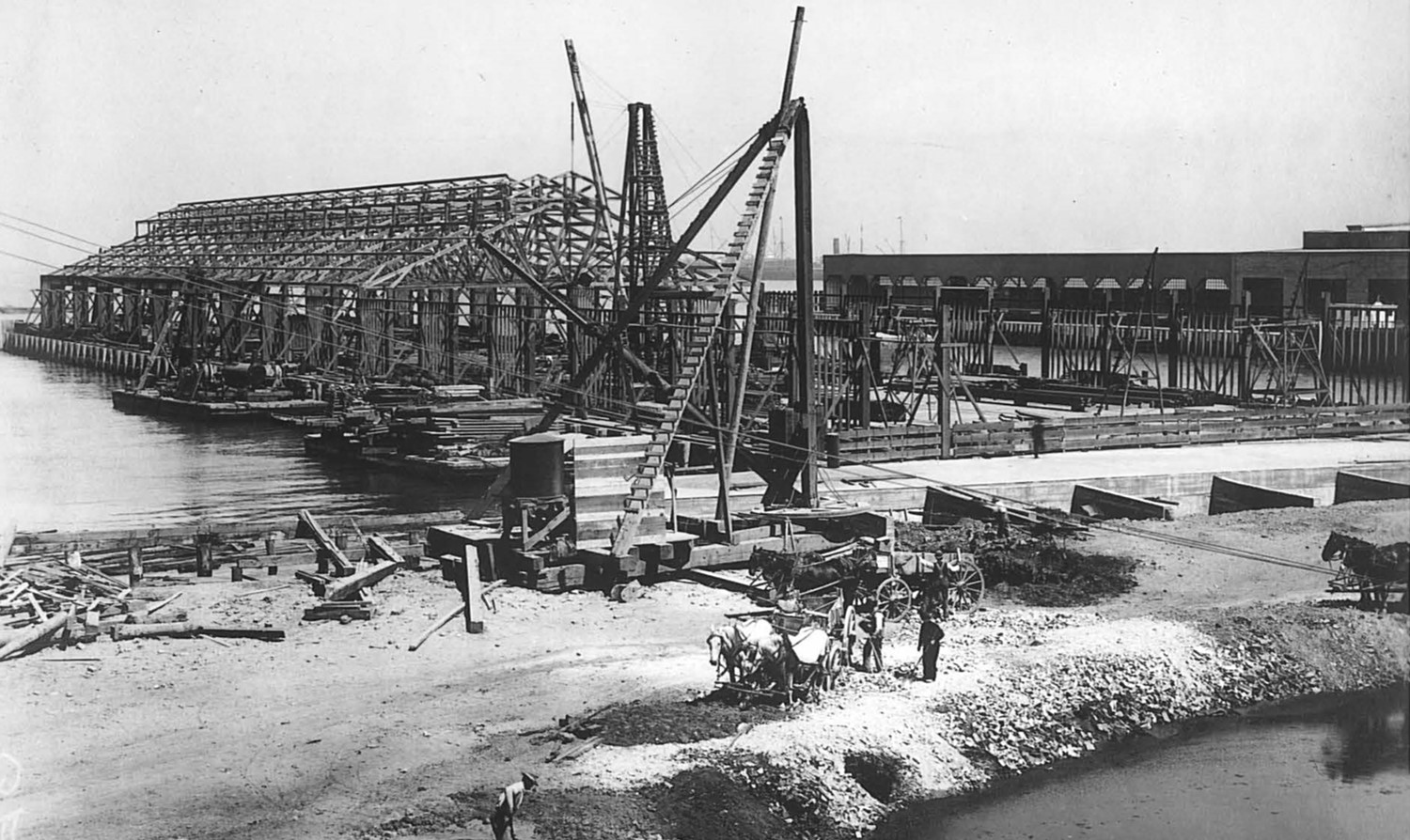 Construction of the Seawall