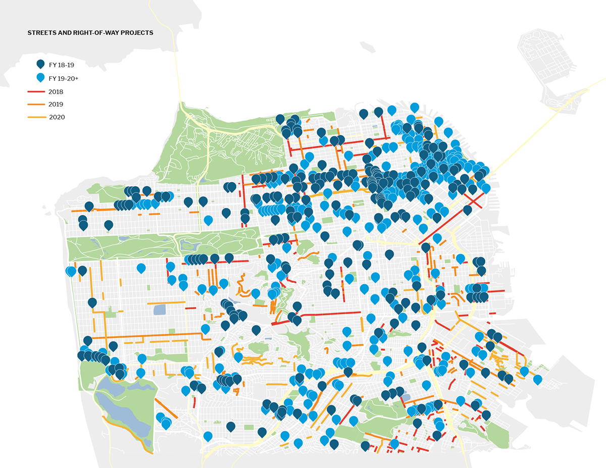 Streets and Rights-of-Way Projects Map